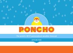poncho, une alternative amusante à la météo.
