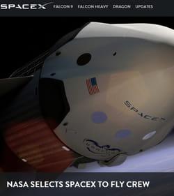 spacex, entreprise grâce à laquelle elon musk espère explorer la planète mars.