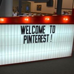 l'accueil de pinterest, à new york.