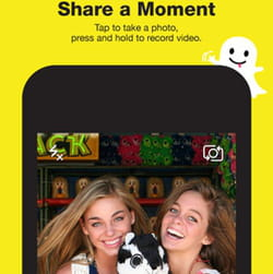 sur snapchat, vos photos s'autodétruisent.