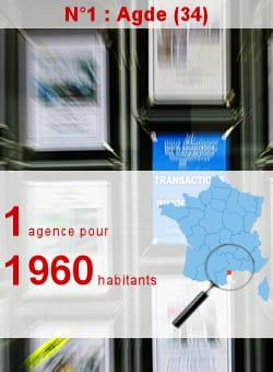 l'insee recense 11 agences immobilières à agde.