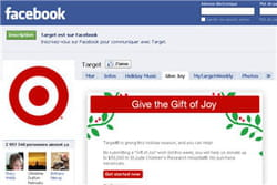 la page de target sur facebook 