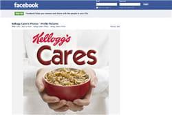 la page de kellogg's sur facebook