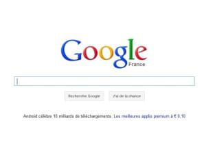 capture d'écran de google.fr