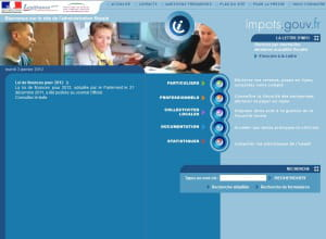 page d'accueil de impots.gouv.fr