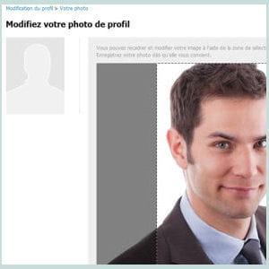 un profil avec photo a beaucoup plus de chances d'être repéré.