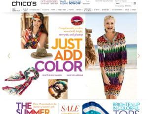 chicos.com commercialise le prêt-à-porter féminin de sa chaîne de distribution