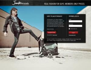 jackthreads.com est un site de ventes privées de mode masculine