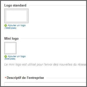 l'insertion d'un logo fait partie des premières étapes.