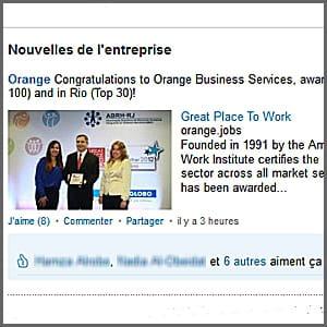 une nouvelle diffusée par orange.