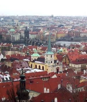 prague, capitale de la république tchèque.