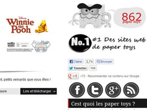 le site paper toys art sous wordpress embarque le célèbre bouton like de