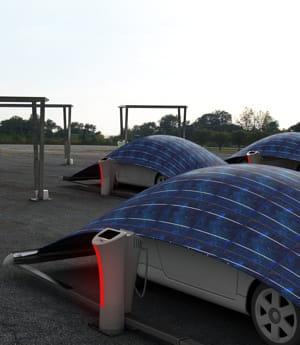 garer sa voiture sous une tente solaire pour la recharger 10 nouveaux moyens de produire de l. Black Bedroom Furniture Sets. Home Design Ideas