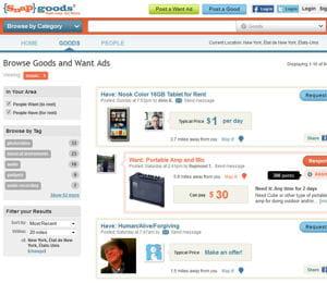 snapgoods permet de mettre tout type de produit en location sur internet