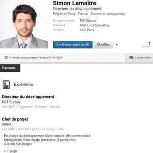 grâce à votre profil linkedin, vous avez accès à des fonctionnalités