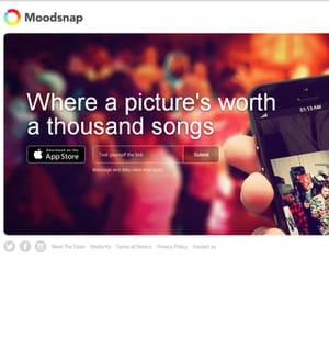 moodsnap, pour choisir une chanson à partir d'une image.