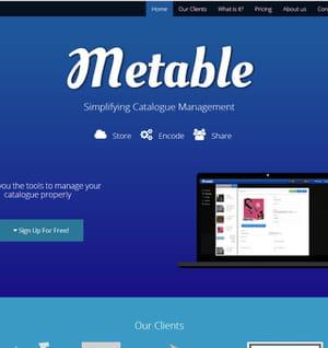 metable aide à gérer son catalogue de données.
