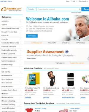 alibaba, géant de l'e-commerce.