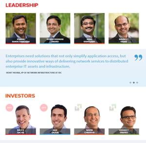 les dirigeants et investisseurs de cloudgenix.