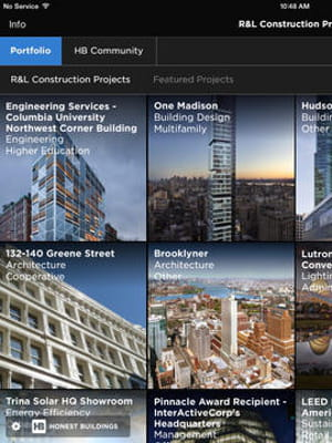 honest buildings a lancé une application ipad en mars 2014.
