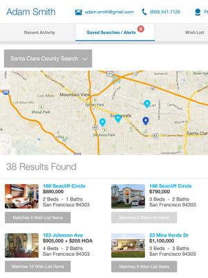 realscout permet aux acheteurs potentiels de rechercher un bien en choisissant