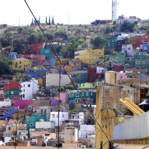 une vue de la ville de guanajuato au mexique.