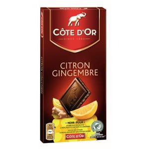 chocolat côte d'or fourré citron gingembre.
