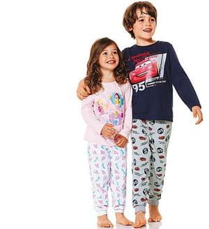 les motifs du pyjama peuvent être scannés par un smartphone.