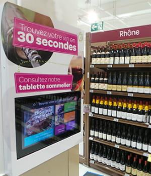vinoreco guide le client dans les rayons des supermarchés.
