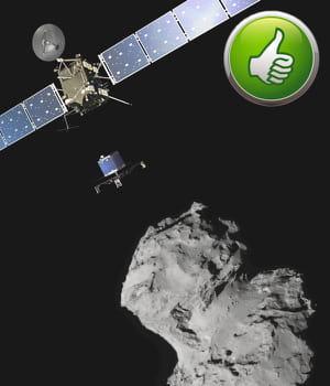 le robot philae a réussi à se poser sur une comète, une première scientifique