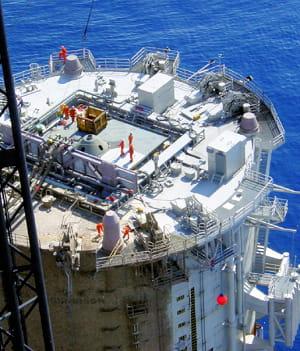 dans le golfe du mexique, technip réalise pour shell une plate-forme flottante