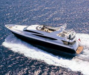 le modèle princess 95my de princess yachts international.