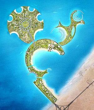 le nombre de constructions sur l'ile artificielle al marjan a été réduit.