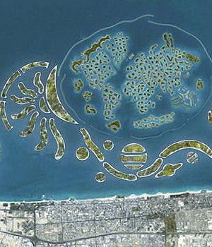 les nouvelles îles artificielles the universe sont menacées.