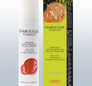 la crème 'diabolique tomate' de garancia est vendue 33euros en pharmacies,