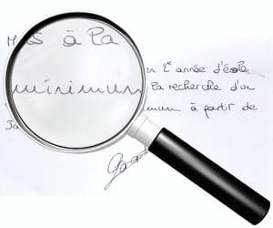 exemple d'écriture en guirlande.