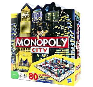 le monopoly city comporte des buildings en 3d.
