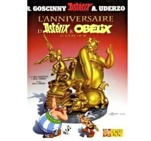le livre d'or d'astérix, édité pour le cinquantième anniversaire du héros, est