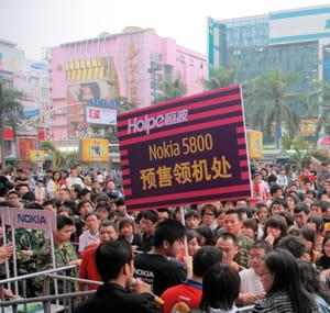 le lancement du nokia 5800 en chine.