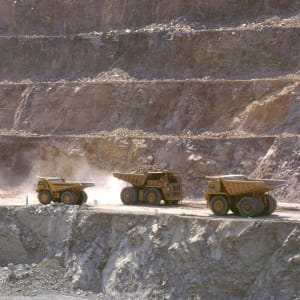 une mine de diamants au botswana.