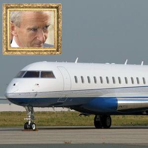 le milliardaire a craqué pour ce global express, photographié ici à l'aéroport