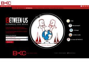 la page d'accueil de 'between us' le réseau social des clients de bénéteau