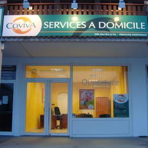 une façade de l'enseigne de services à la personne coviva.
