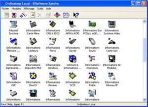capture d'écran du logiciel.