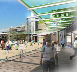 le nouveau parc d'activités commerciales à clermont-ferrand comprendra 2niveaux