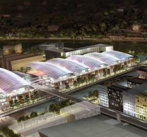 le centre commercial confluence à lyon comprendra 75boutiques sur53000m².