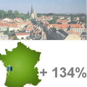 soubise est la 3e ville qui a vu sa population le plus augmenter.