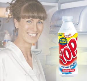 80% de la consommation des bouteilles de yop se ferait à domicile.
