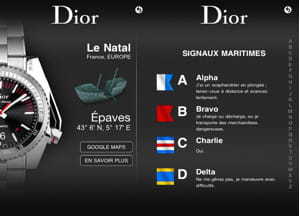 l'application iphone de dior