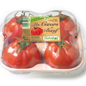 la tomate cœur de bœuf est vendue dans un packaging déposé.